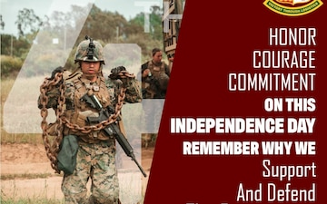 Happy Independence Day Marines and Sailors of 1st MLG